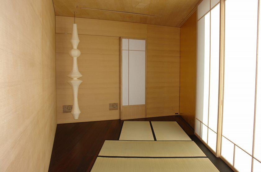 Tatami-Zimmer in Eiche und Blattgold, Tatamis und Shoji's