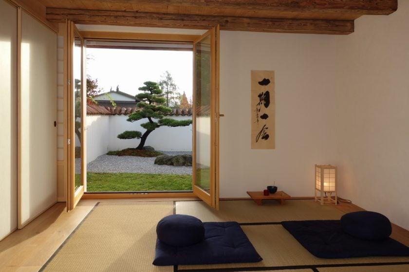 Tatami-Zimmer – Washitsu – mit Fusumas und Shoji's