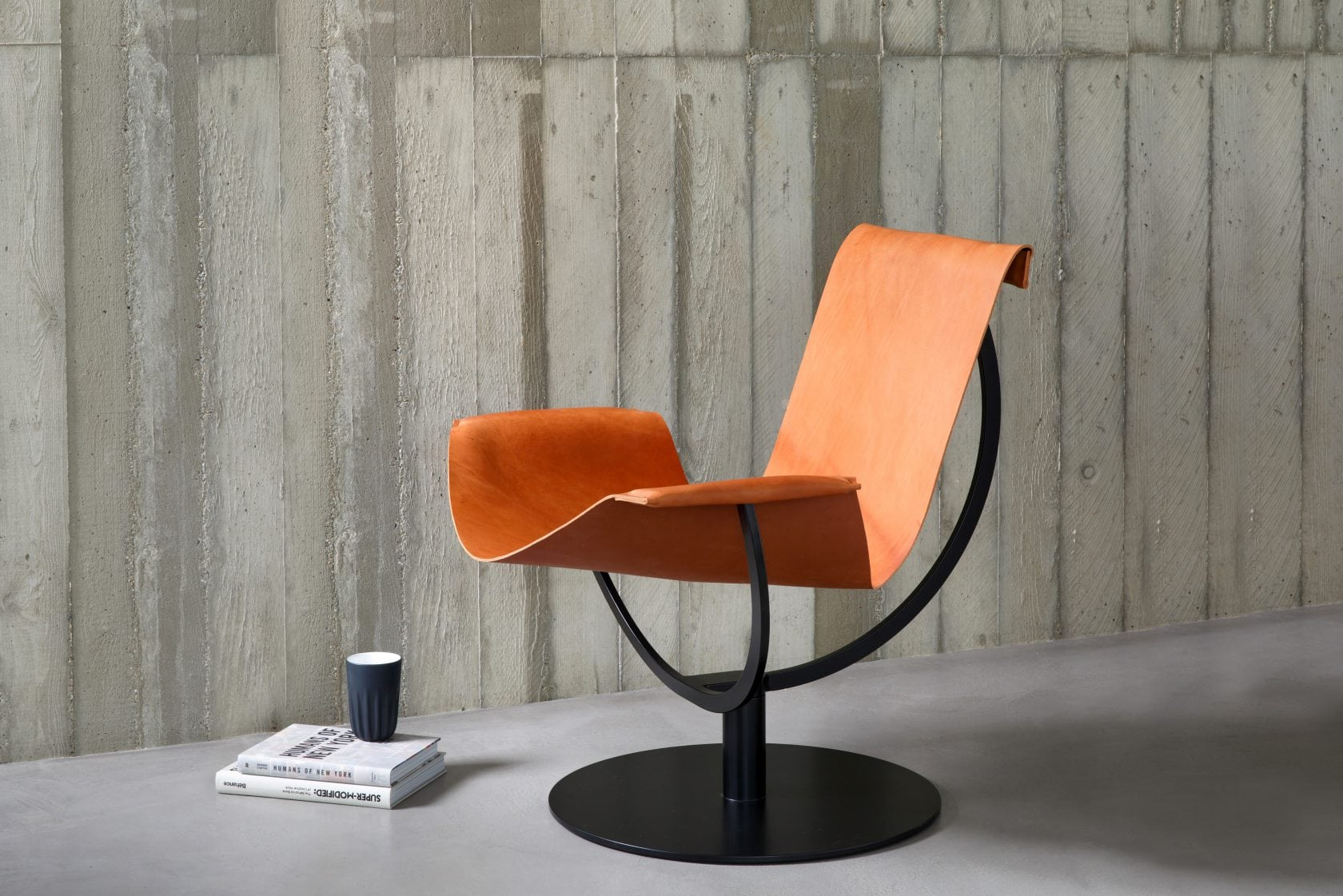 interior arch chair leather cognac