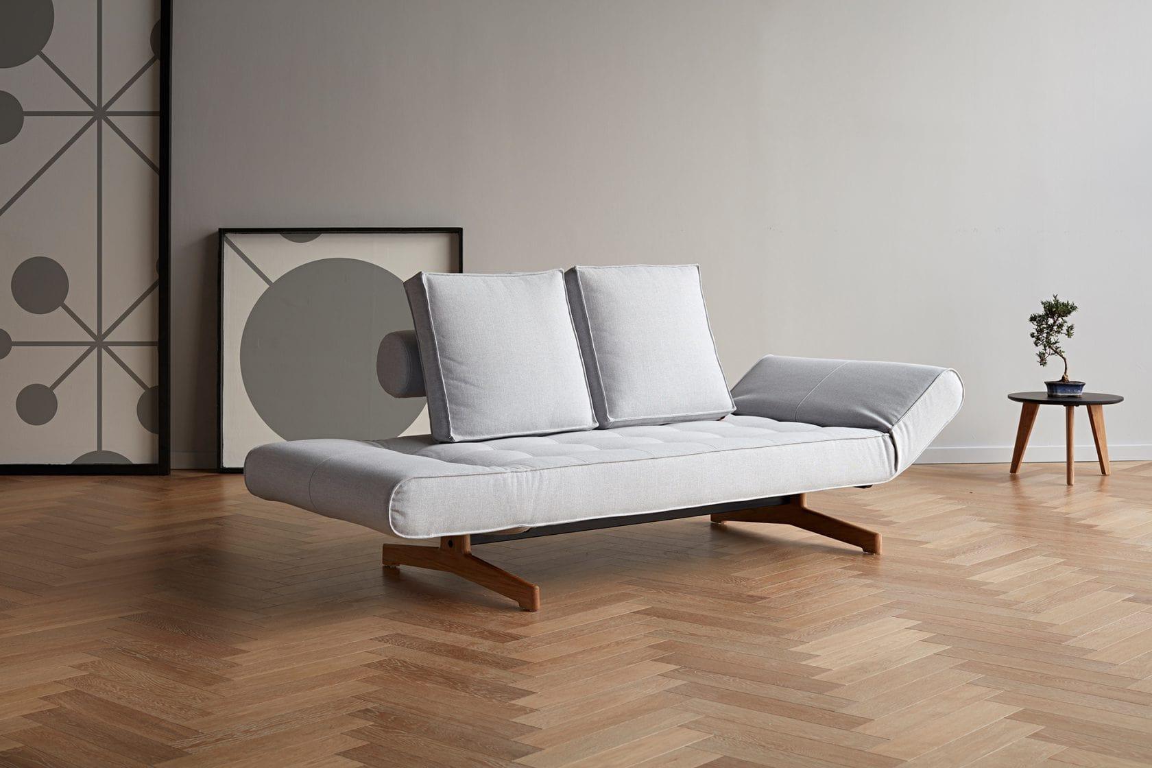 Ghia Wood Daybed Oak 517 Elegance Light Grey 2